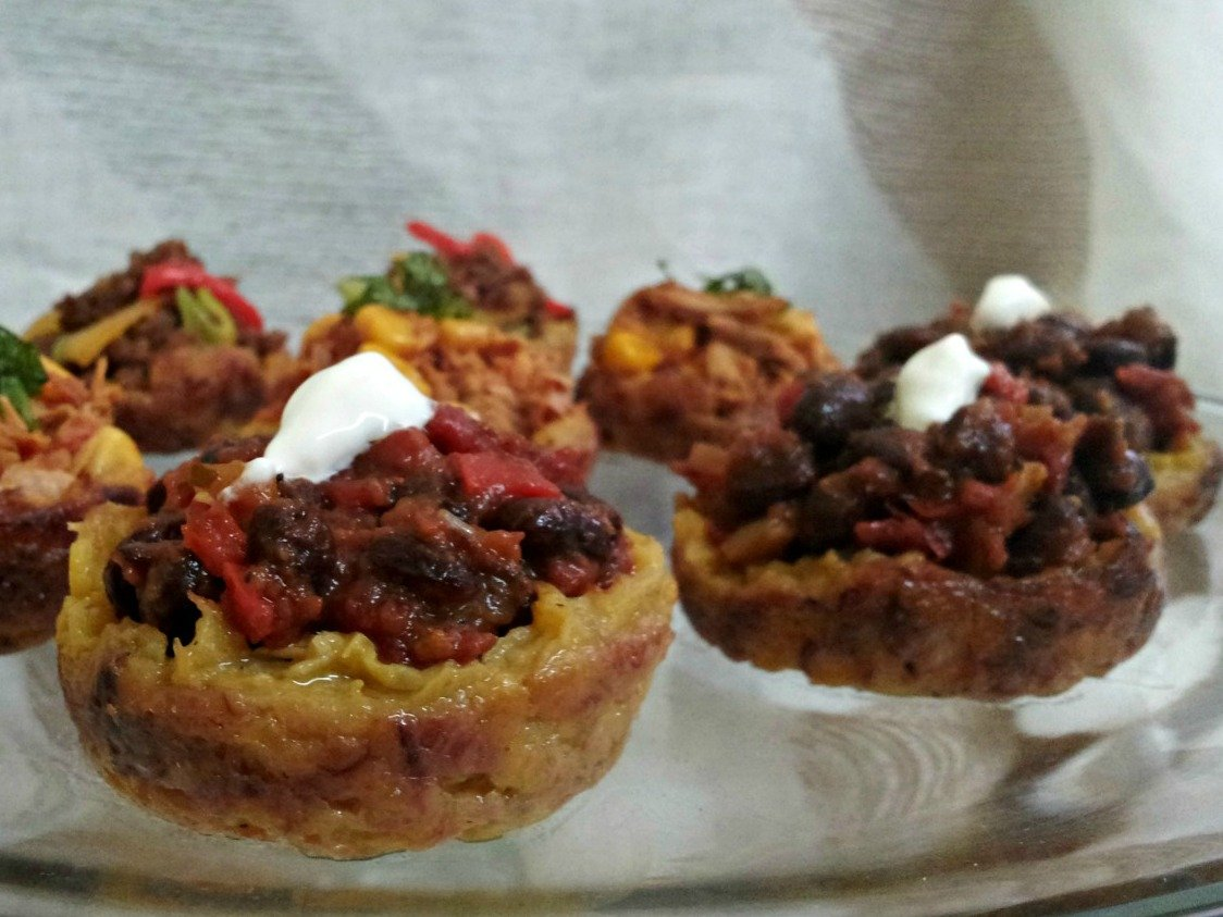 #MeatlessMonday Meals: Pretty Little Plantain Cups